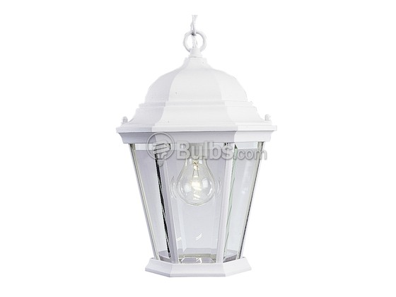 Progress Lighting P5582-30 One-Light Outdoor Hanging Lantern Fixture, Welbourne Collection, Textured White