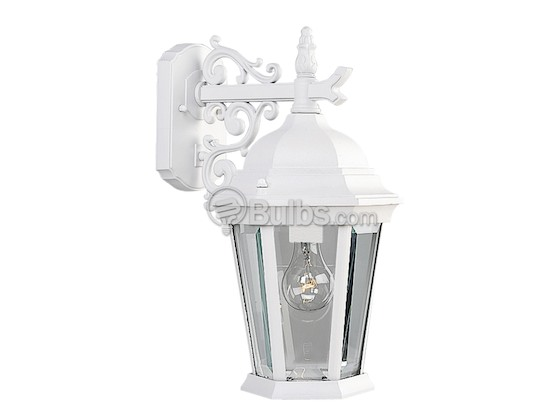 Progress Lighting P5683-30 One-Light Outdoor Wall Lantern, Welbourne Collection, Textured White