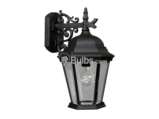 Progress Lighting P5683-31 One-Light Outdoor Wall Lantern, Welbourne Collection, Textured Black