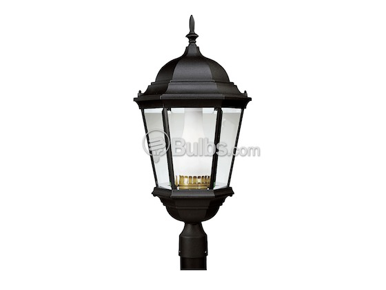 Progress Lighting P5486-31 One-Light Outdoor Post Lantern, Welbourne Collection, Textured Black