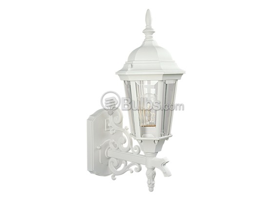 Progress Lighting P5681-30 One-Light Outdoor Wall Lantern, Welbourne Collection, Textured White