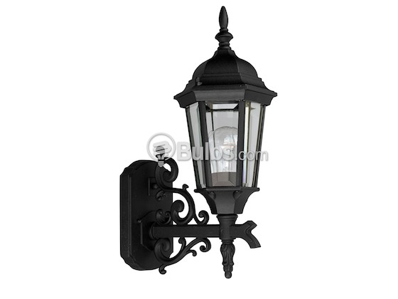 Progress Lighting P5681-31 One-Light Outdoor Wall Lantern, Welbourne Collection, Textured Black