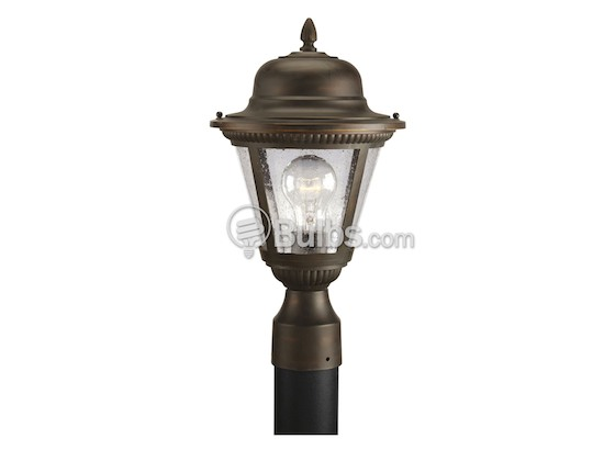 Progress Lighting P5445-20 One-Light Outdoor Post Lantern, Westport Collection, Antique Bronze