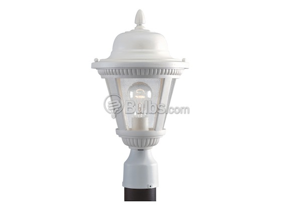 Progress Lighting P5445-30 One-Light Outdoor Post Lantern, Westport Collection, White