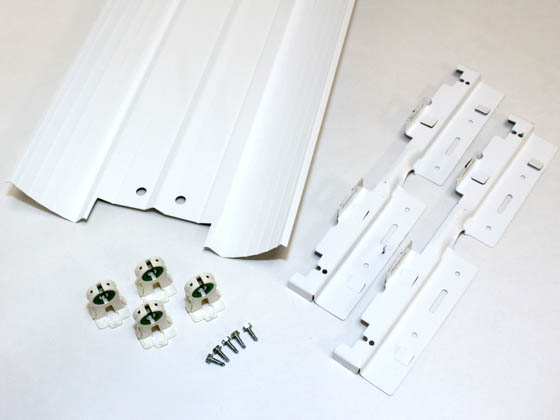 US Energy Sciences KPH-02B02-WA 2-Lamp 2x2 T8 12 Cell Parabolic Troffer Retrofit Kit, White Aluminum