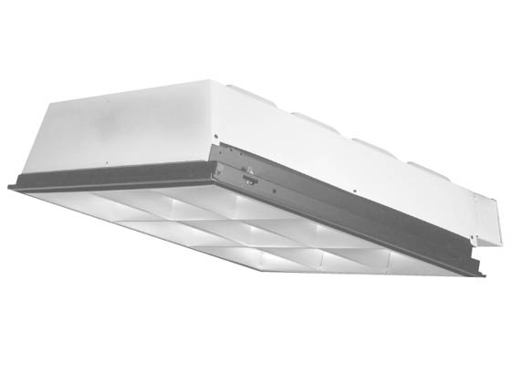 2X2 9 Cell Parabolic Troffer Fixture for Two FB32T8-U6 Lamps ...