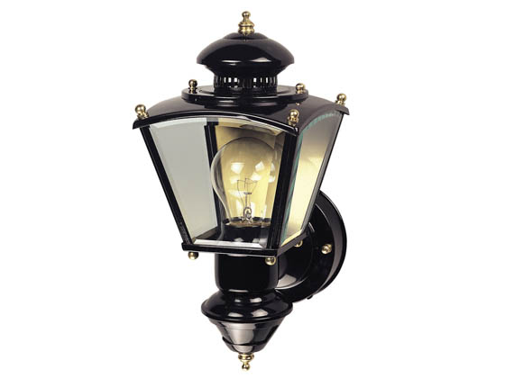 Heath / Zenith SL-4150-BK One-Light Motion Activated Outdoor Wall Lantern Fixture, Black