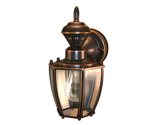 Heath / Zenith SL-4170-AC One-Light Motion Activated Outdoor Wall Lantern Fixture, Antique Copper Finish