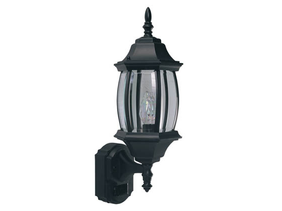 Heath / Zenith SL-4196-BK One-Light Motion Activated Outdoor Wall Lantern Fixture, Black