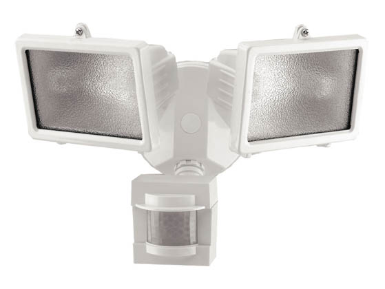 Heath / Zenith SL-5514-WH Two-Light Motion Activated Security Light Fixture, White