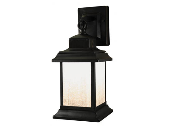 Heath / Zenith SL-4540-BK Motion Activated LED Outdoor Wall Lantern Fixture, Black