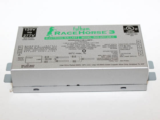 Fulham RHA-UNV-226-K RaceHorse 3 Electronic CFL Ballast Contractor Kit 120V - 277V