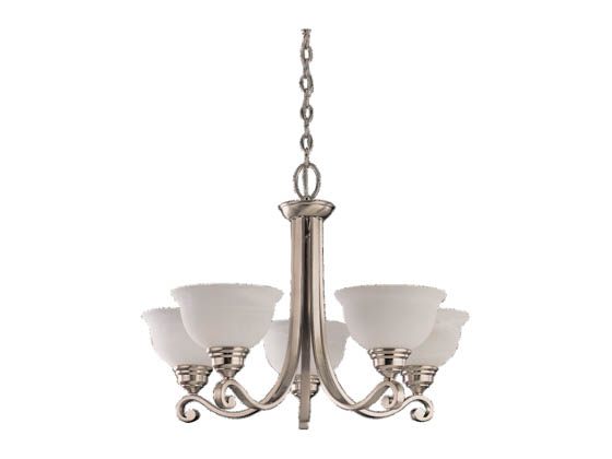 Sea Gull Lighting 31191-962 Five-Light Chandelier Fixture, Serenity Collection, Brushed Nickel