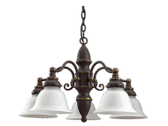Sea Gull Lighting 31051-71 Five-Light Chandelier Fixture, Canterbury Collection, Antique Bronze
