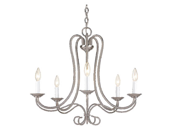 Sea Gull Lighting 3116-962 Five-Light Chandelier Fixture, Scandia Collection, Brushed Nickel