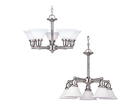 Sea Gull Lighting 31061-962 Five-Light Chandelier Fixture, Sussex Collection, Brushed Nickel