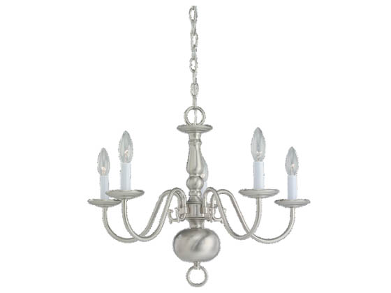 Sea Gull Lighting 3410-962 Five-Light Chandelier Fixture, Traditional Collection, Brushed Nickel