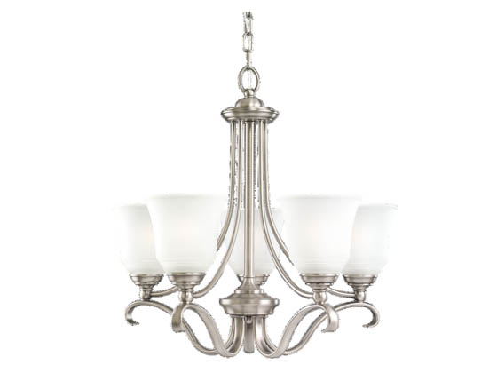 Sea Gull Lighting 31380-965 Five-Light Chandelier Fixture, Parkview Collection, Antique Brushed Nickel