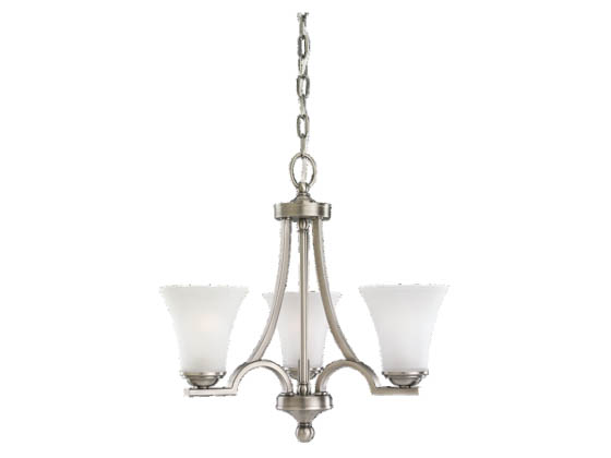 Sea Gull Lighting 31375-965 Three-Light Chandelier Fixture, Somerton Collection,  Antique Brushed Nickel