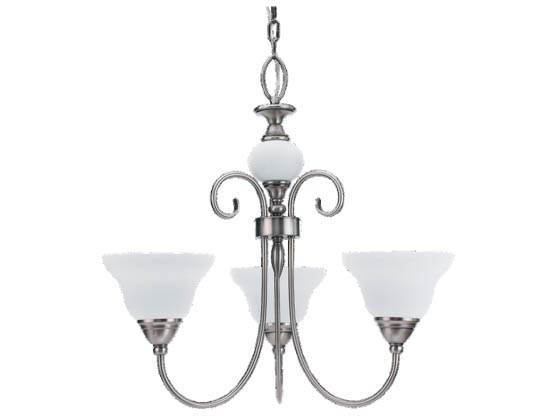 Sea Gull Lighting 31105-965 Three-Light Chandelier Fixture, Montclaire Collection,  Antique Brushed Nickel