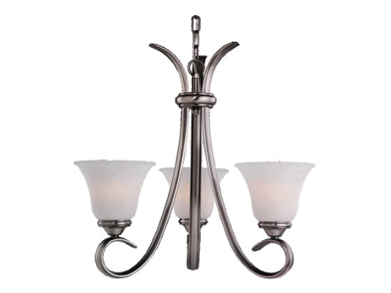 Sea Gull Lighting 31360-965 Three-Light Chandelier Fixture, Rialto Collection,  Antique Brushed Nickel