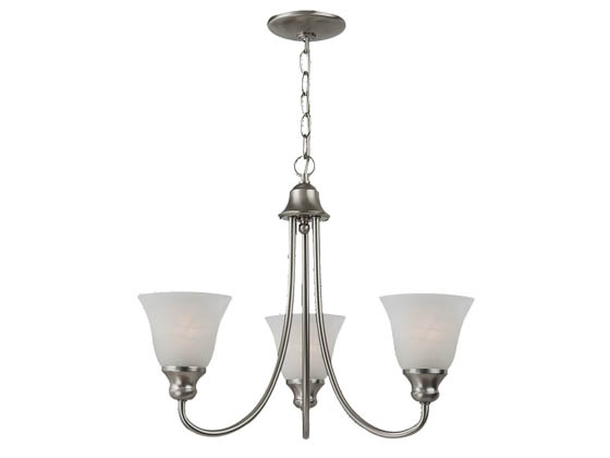 Sea Gull Lighting 35939BLE-962 Three-Light Fluorescent Chandelier Fixture, Windgate Collection,  Brushed Nickel