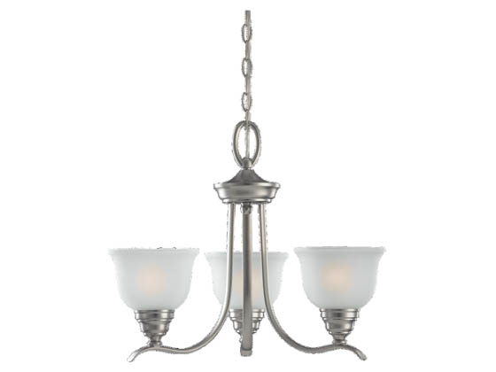 Sea Gull Lighting 31625BLE-962 Three-Light Fluorescent Chandelier Fixture, Wheaton Collection,  Brushed Nickel