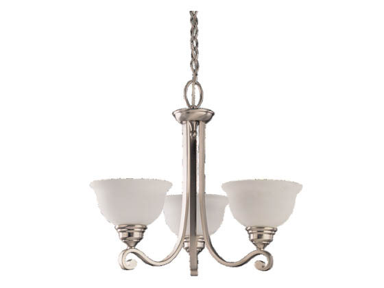 Sea Gull Lighting 39058BLE-962 Three-Light Fluorescent Chandelier Fixture, Serenity Collection,  Brushed Nickel