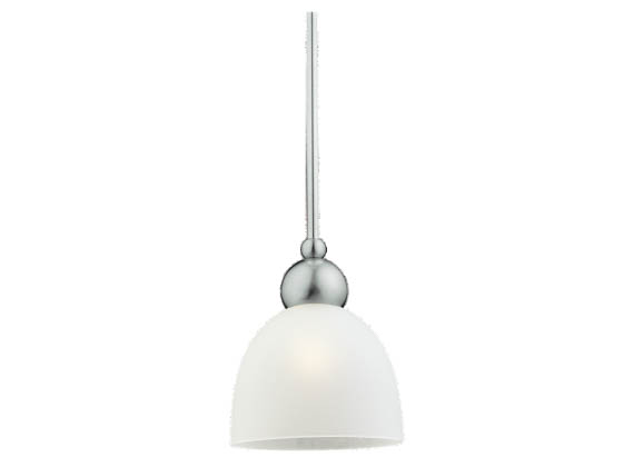 Sea Gull Lighting 44236 962 2 Light Brushed Nickel: Single-Light Mini-Pendant Fixture, Metropolis Collection