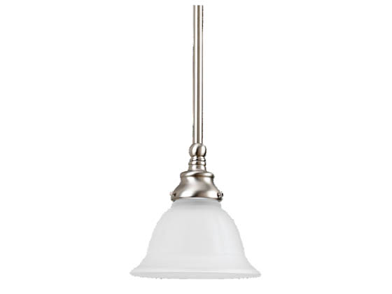 Sea Gull Lighting 61050-962 Single-Light Mini-Pendant Fixture, Canterbury Collection, Brushed Nickel