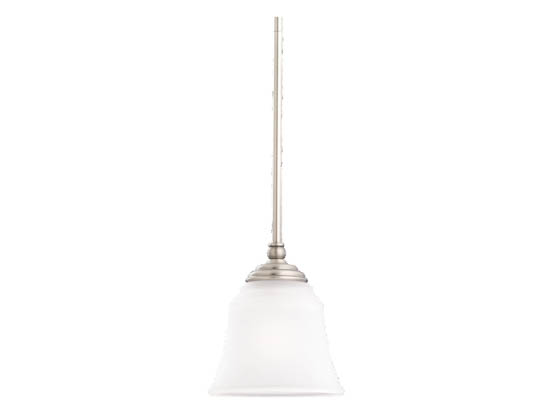 Sea Gull Lighting 61380-965 Single-Light Mini-Pendant Fixture, Parkview Collection, Antique Brushed Nickel