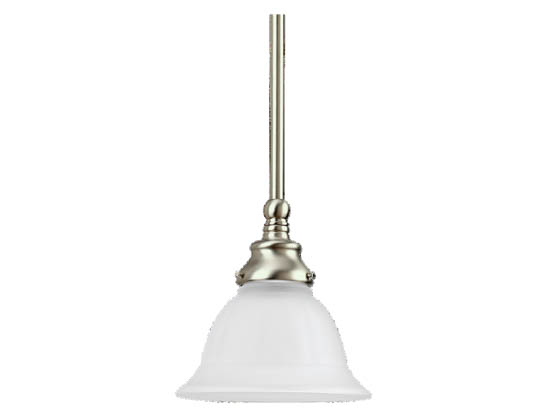 Sea Gull Lighting 69050BLE-962 Single-Light Mini-Pendant Fixture, Canterbury Collection, Brushed Nickel