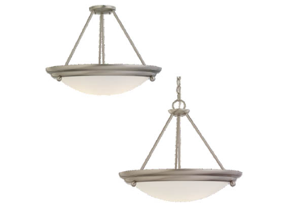 Sea Gull Lighting 69238BLE-98 Four-Light Pendant Fixture, Centra Collection, Brushed Stainless