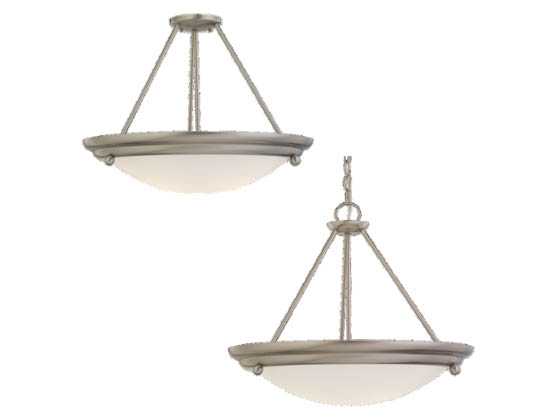 Sea Gull Lighting 69133BLE-98 Three-Light Pendant Fixture, Centra Collection, Brushed Stainless