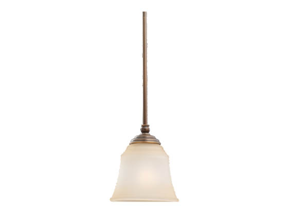 Sea Gull Lighting 69380BLE-829 Single-Light Pendant Fixture, Parkview Collection, Russet Bronze