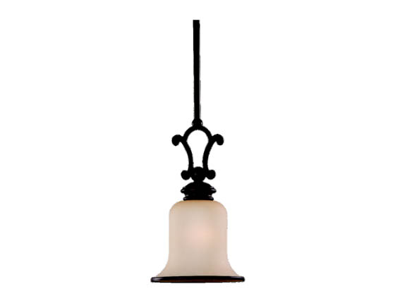 Sea Gull Lighting 61145BLE-814 Single-Light Mini-Pendant Fixture, Acadia Collection, Misted Bronze