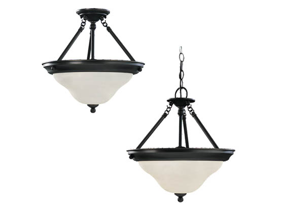 Sea Gull Lighting 69562BLE-782 Three-Light Pendant Fixture, Sussex Collection, Heirloom Bronze