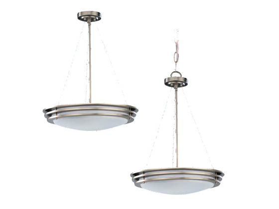 Sea Gull Lighting 69251BLE-962 Four-Light Pendant Fixture, Nexus Collection, Brushed Nickel