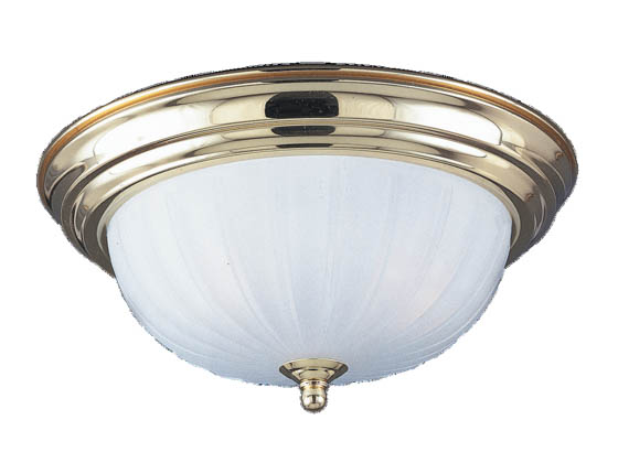 Sea Gull Lighting 7505-02 Close-to-Ceiling, Two-Light Fixture, Evansville Collection, Polished Brass