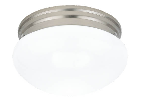 Sea Gull Lighting 5328-962 Close-to-Ceiling, Two-Light Fixture, Webster Collection, Brushed Nickel
