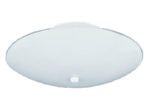 Sea Gull Lighting 7355-15 Close-to-Ceiling, Three-Light Fixture, Bent Glass Collection, White