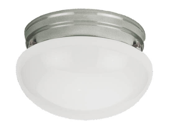 Sea Gull Lighting 5326-962 Close-to-Ceiling, One-Light Fixture, Webster Collection, Brushed Nickel
