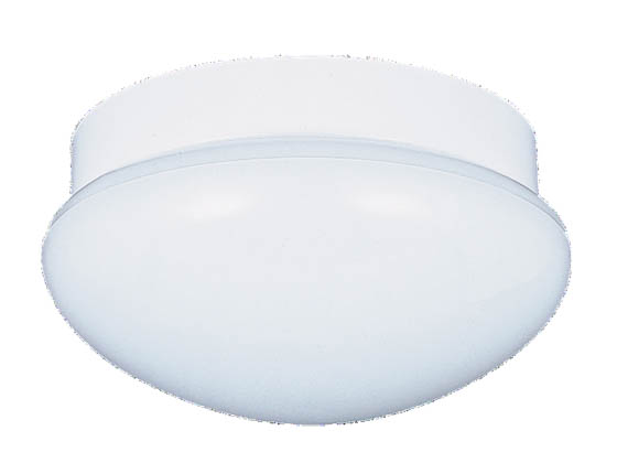 Sea Gull Lighting 7639-15 Close-to-Ceiling, Two-Light Fixture, Flush Mount Collection, White