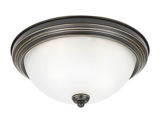 Sea Gull Lighting 77064-782 Close-to-Ceiling, Two-Light Fixture, Sussex Collection, Heirloom Bronze