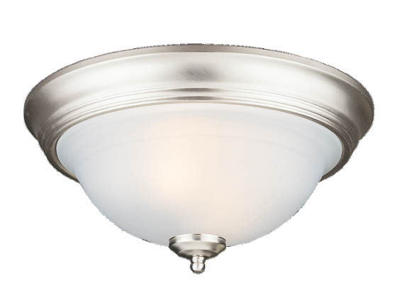 Sea Gull Lighting 77050-962 Close-to-Ceiling, Two-Light Fixture, Canterbury Collection, Brushed Nickel