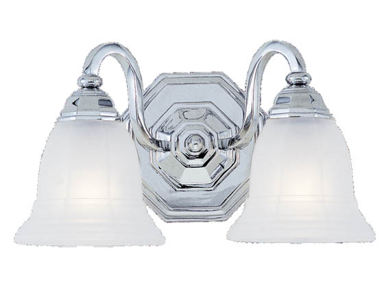 Sea Gull Lighting 4058-05 Two-Light Wall/Bath Light Fixture, Blakely Collection, Chrome