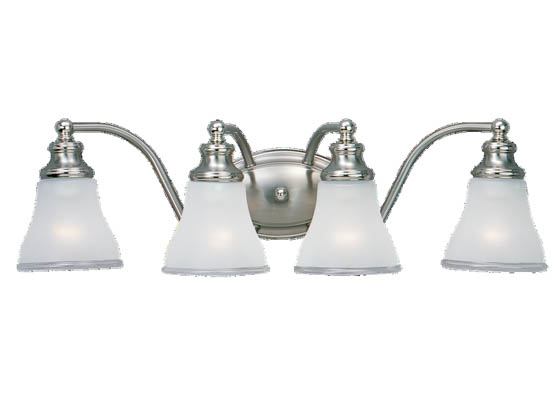 Sea Gull Lighting 40012-773 Four-Light Wall/Bath Light Fixture, Alexandria Collection, Two-Tone Nickel