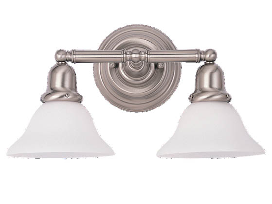 Sea Gull Lighting 44061-962 Two-Light Wall/Bath Light Fixture, Sussex Collection, Brushed Nickel