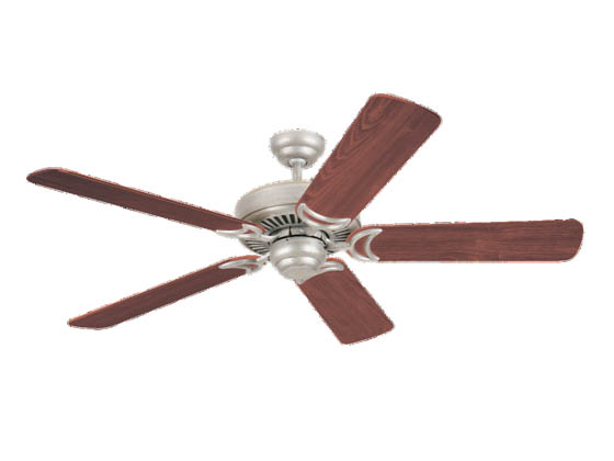 "Sea Gull Lighting 1535-962 52"" Ceiling Fan, Mahogany Dark, Celebrity Deluxe Collection, Brushed Nickel"