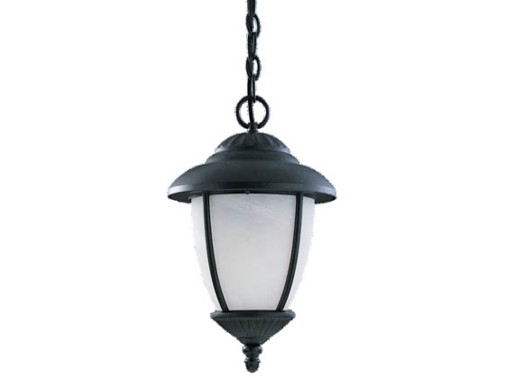 Sea Gull Lighting 69248PBLE-12 One-Light Outdoor Hanging Lantern Fixture, Yorktowne Collection, Black